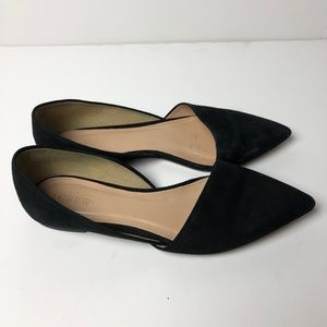 J. CREW Leather Pointed Toe Flats